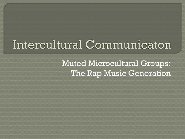 intercultural communicaton n.