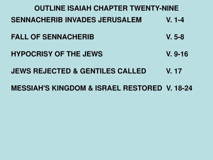 Outline isaiah chapter twenty nine