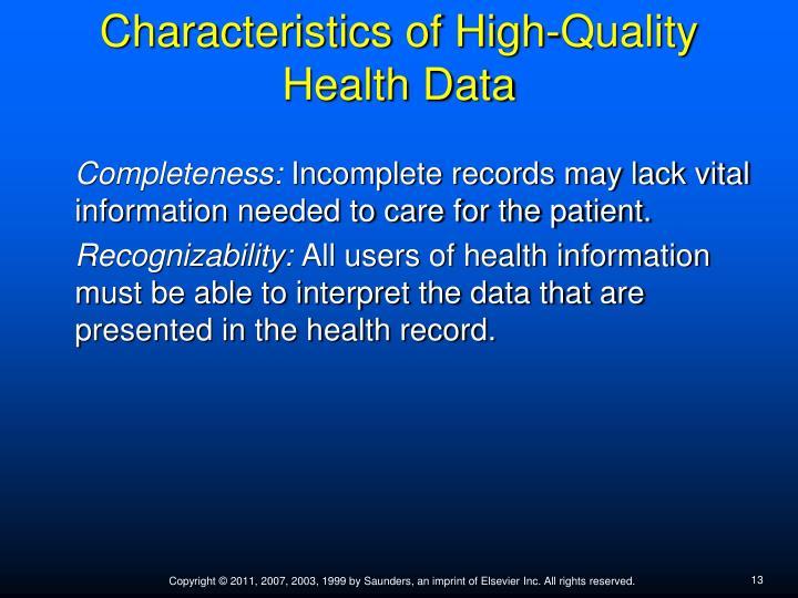 characteristics of good information