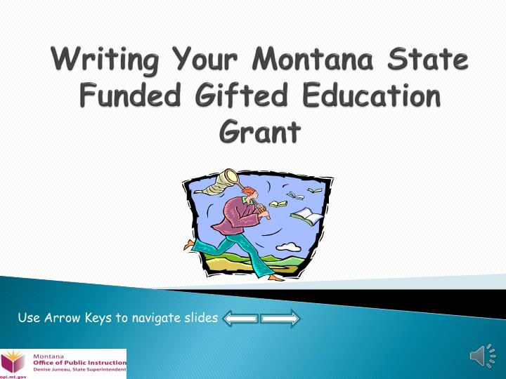 writing your montana state funded gifted education grant n.