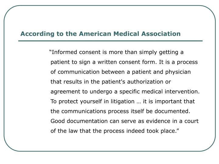 According to the American Medical Association