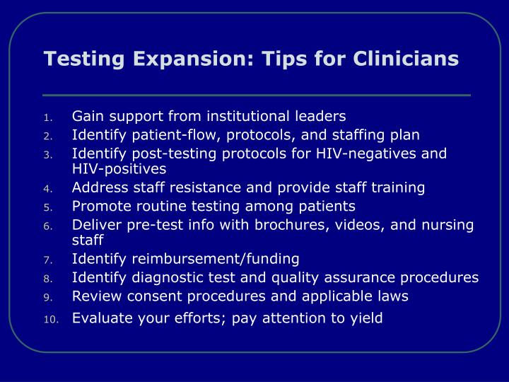Testing Expansion: Tips for Clinicians