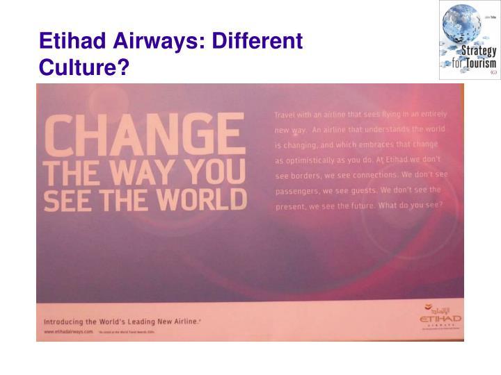 Etihad Airways: Different Culture?