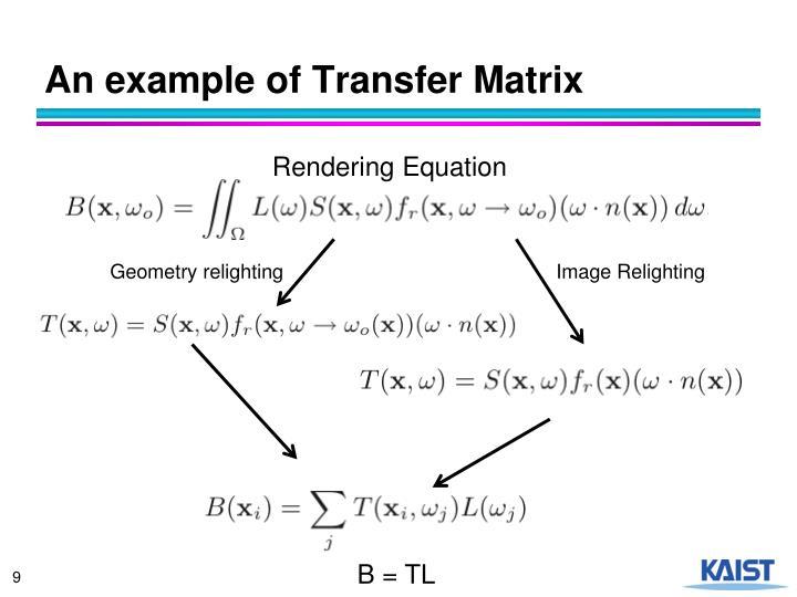 An example of Transfer Matrix