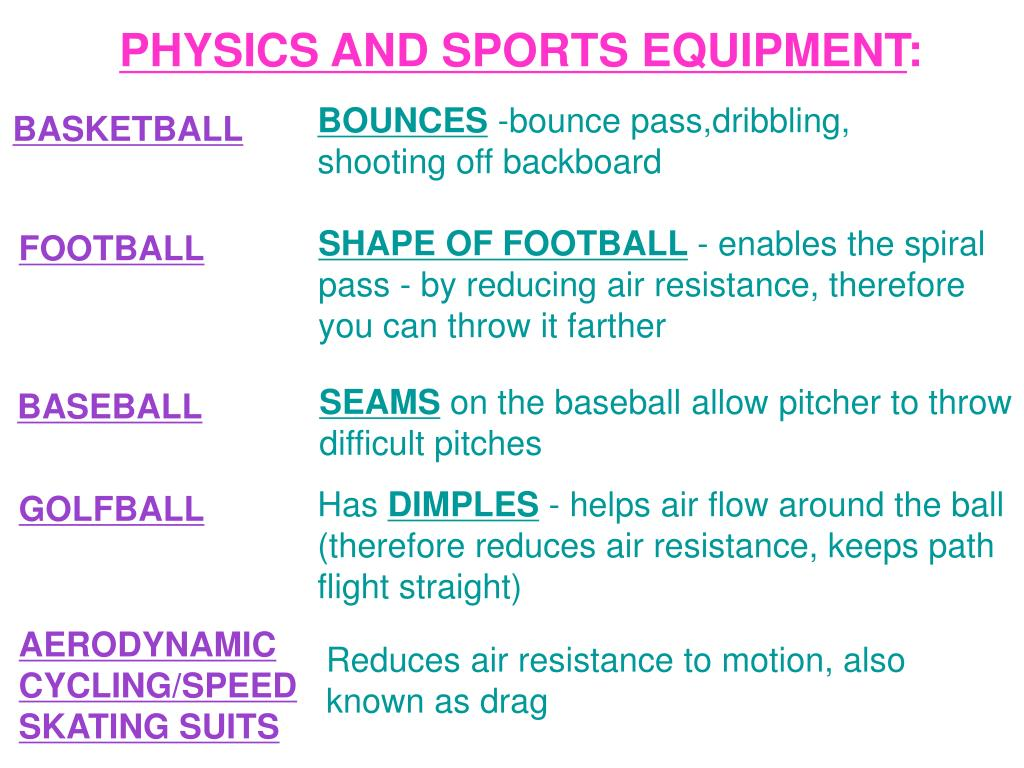 PPT - PHYSICS & THE MOTION OF SPORT PowerPoint Presentation