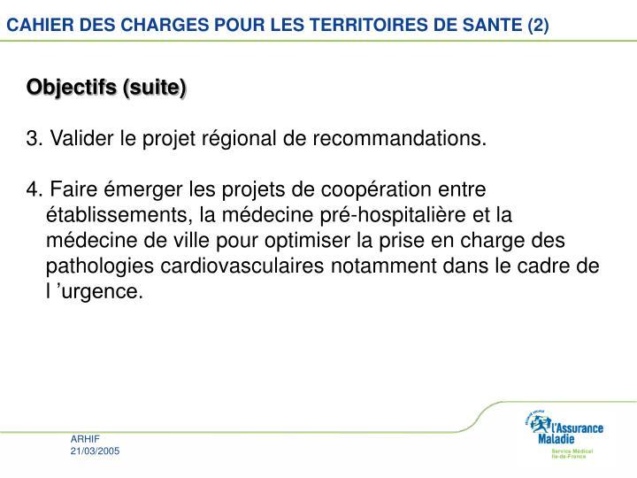 CAHIER DES CHARGES POUR LES TERRITOIRES DE SANTE (2)