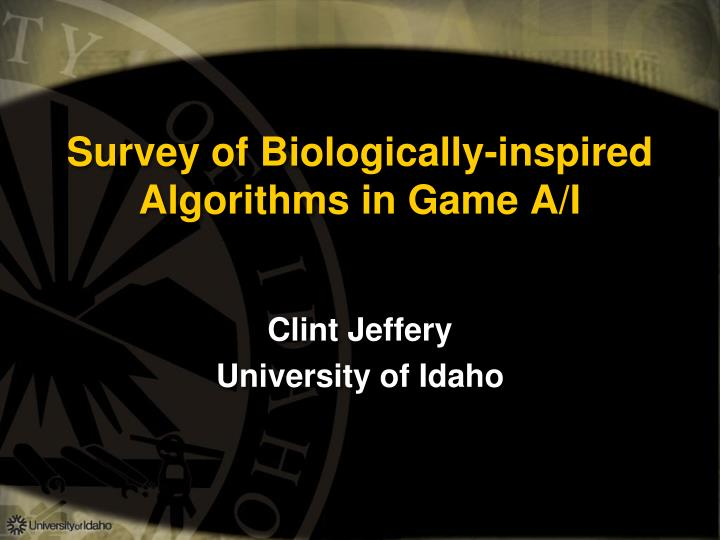 survey of biologically inspired algorithms in game a i n.