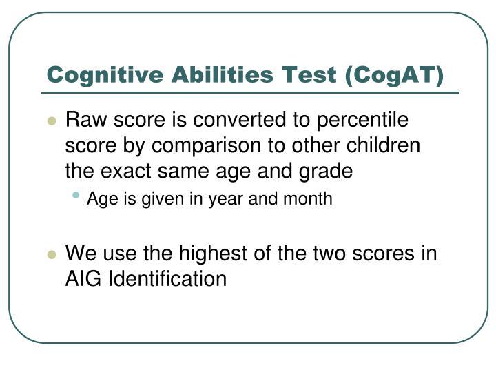 Cognitive Abilities Test (CogAT)