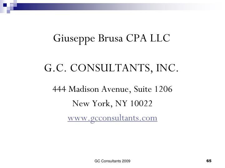 Giuseppe Brusa CPA LLC