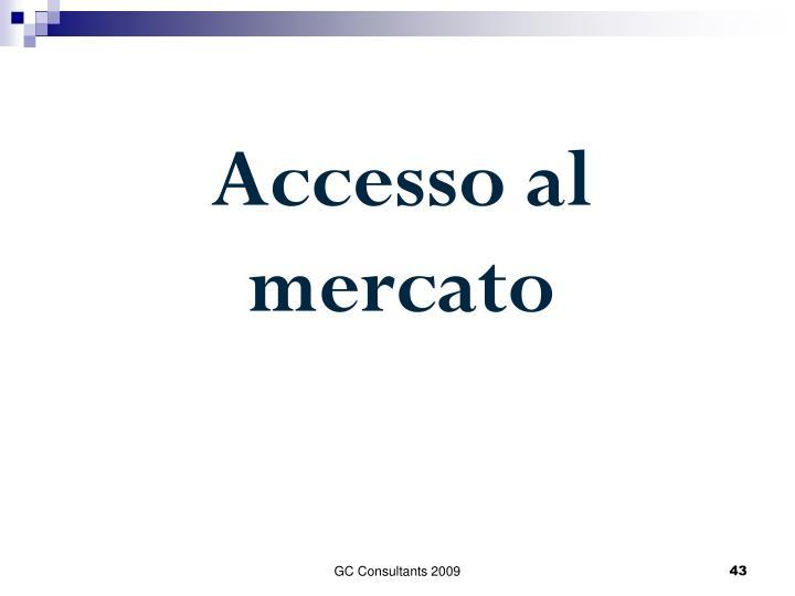 Accesso al mercato