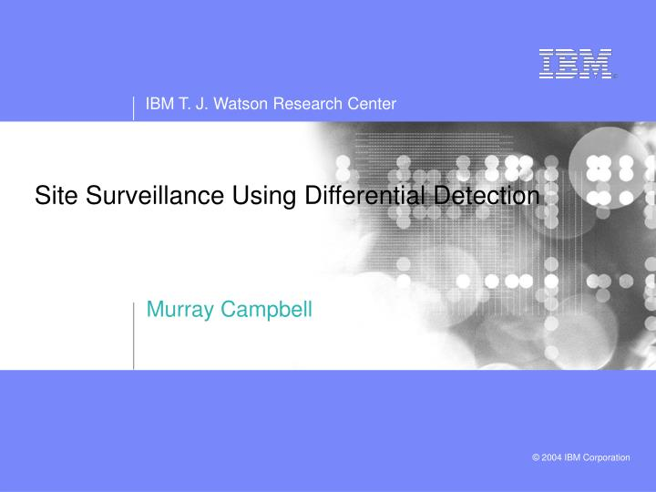 site surveillance using differential detection n.