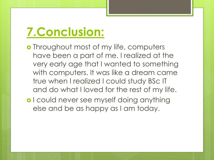 7.Conclusion: