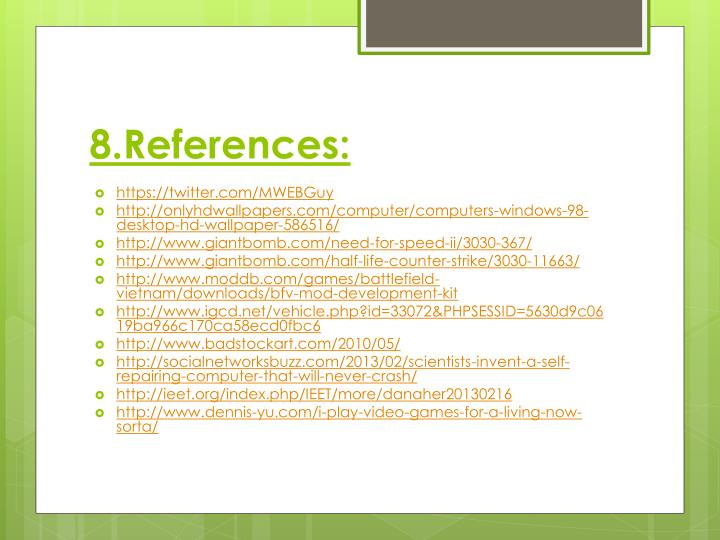 8.References: