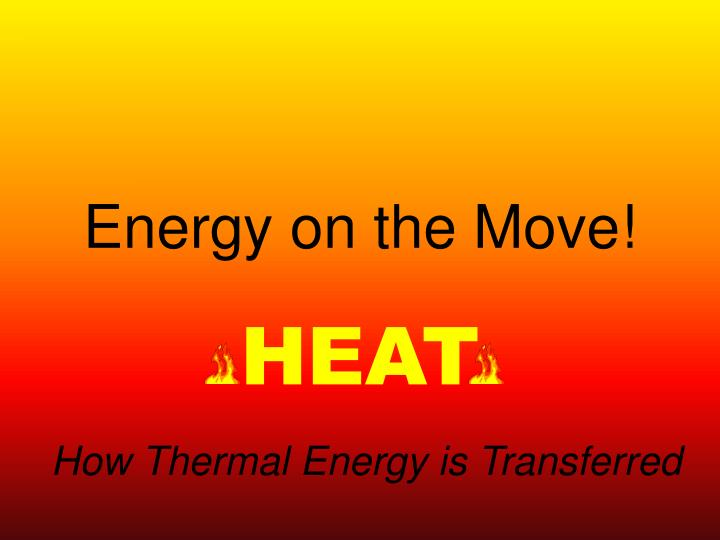 energy on the move n.