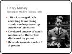 henry mosley developed modern periodic table