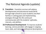 the n ational agenda update