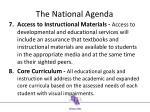the n ational agenda3
