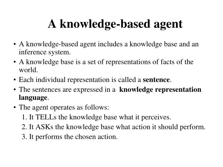 A knowledge-based agent