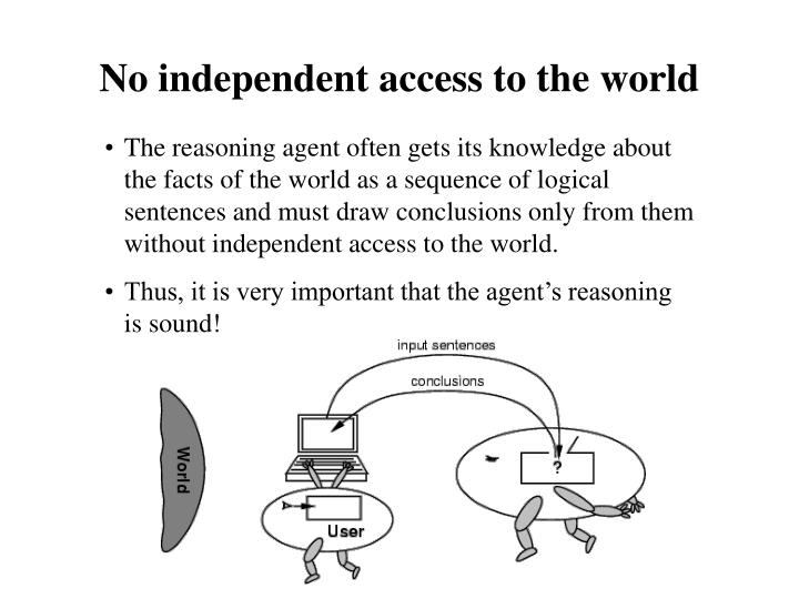 No independent access to the world