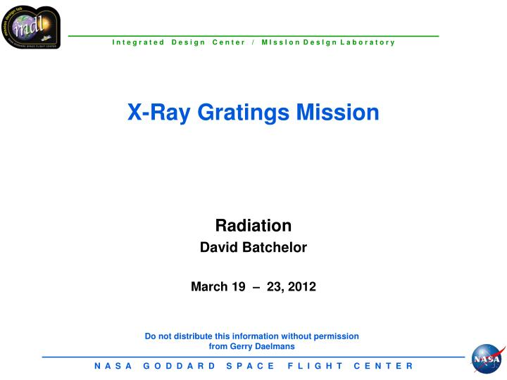 x ray gratings mission n.