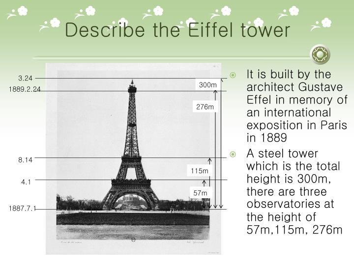 describe eiffel tower looks like