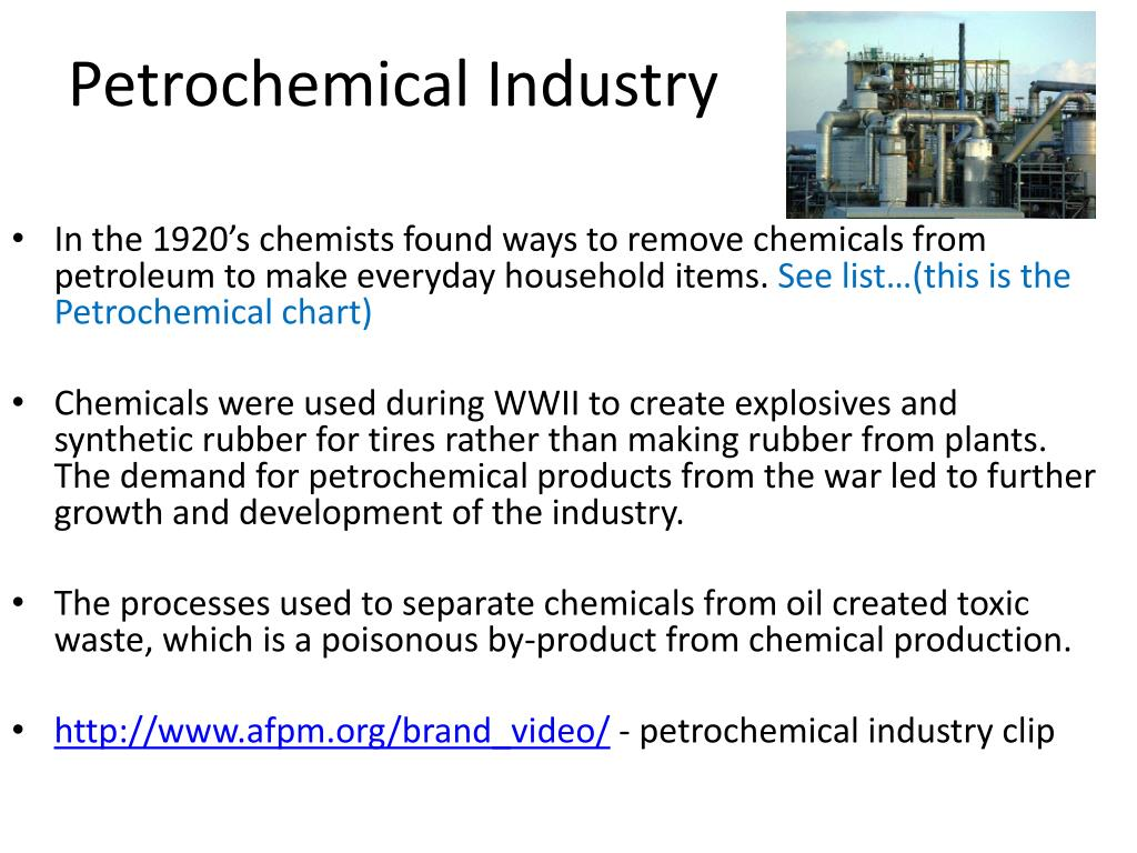 Petrochemical Products List