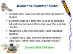 avoid the summer slide