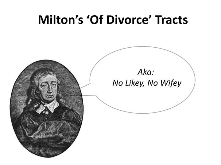 milton s of divorce tracts n.