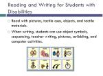 reading and writing for students with disabilities