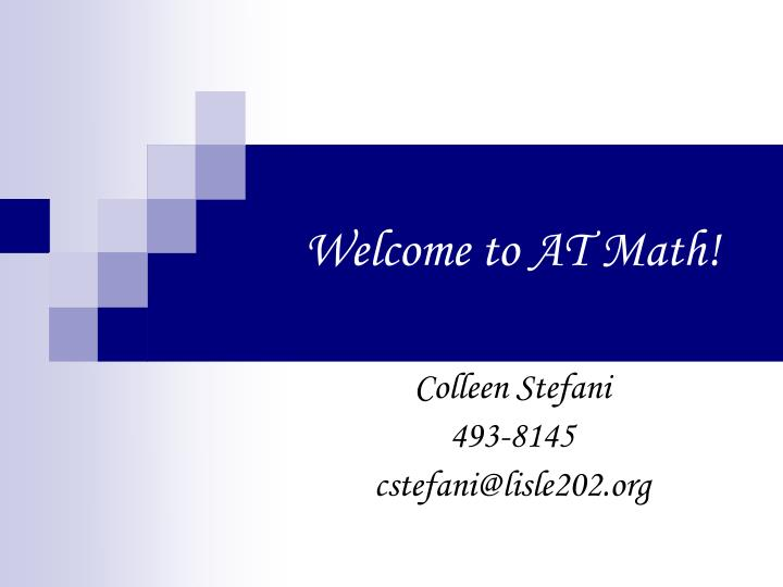 welcome to at math n.