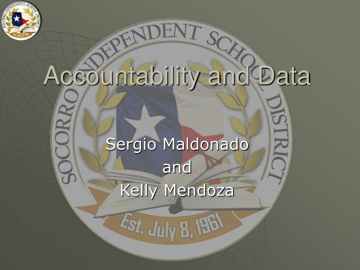 accountability and data n.