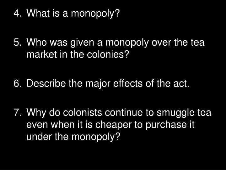 What is a monopoly?