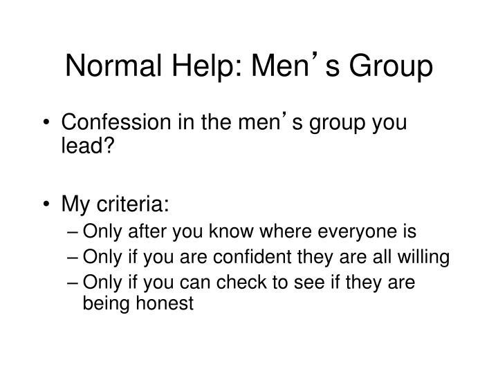 Normal Help: Men