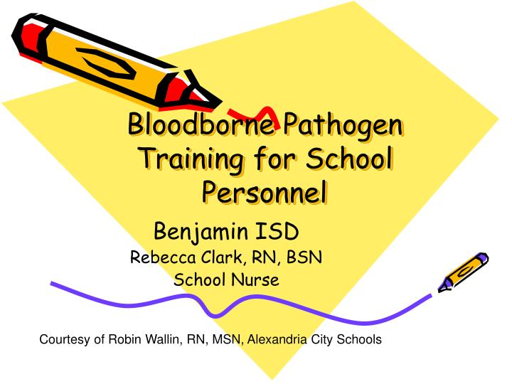 bloodborne pathogen training for school personnel n.