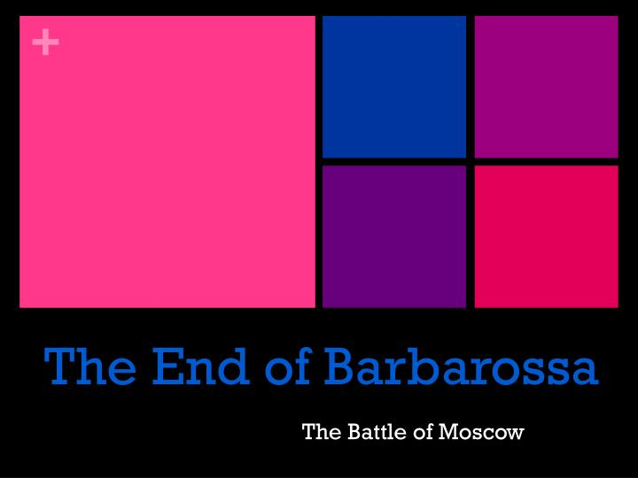 the end of barbarossa n.