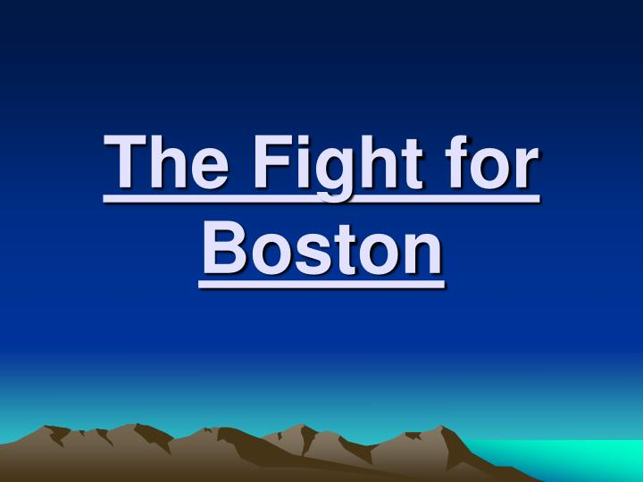 the fight for boston n.