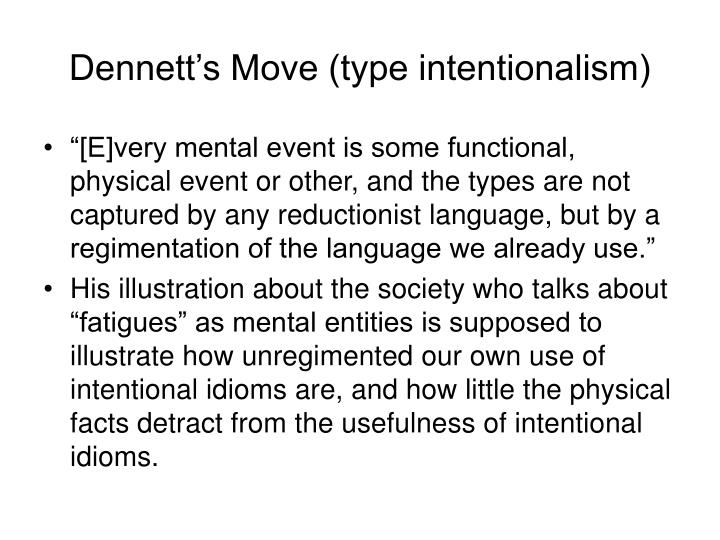 Dennett's Move (type intentionalism)