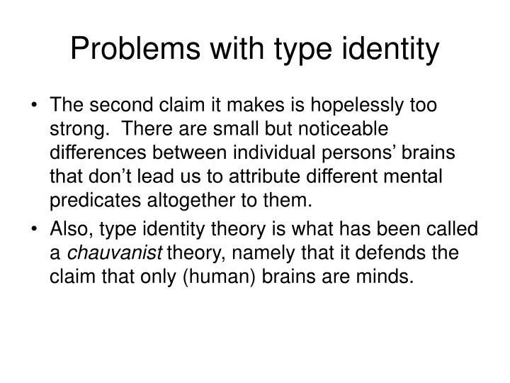 Problems with type identity