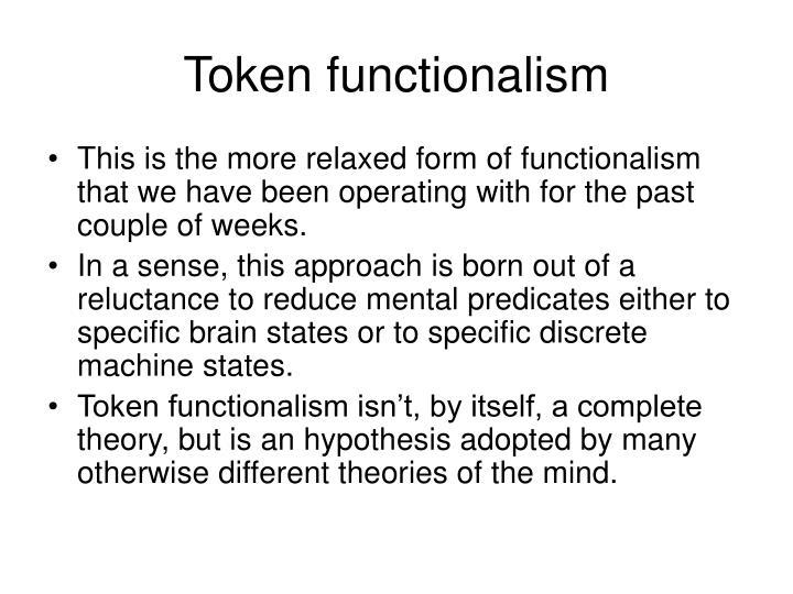 Token functionalism