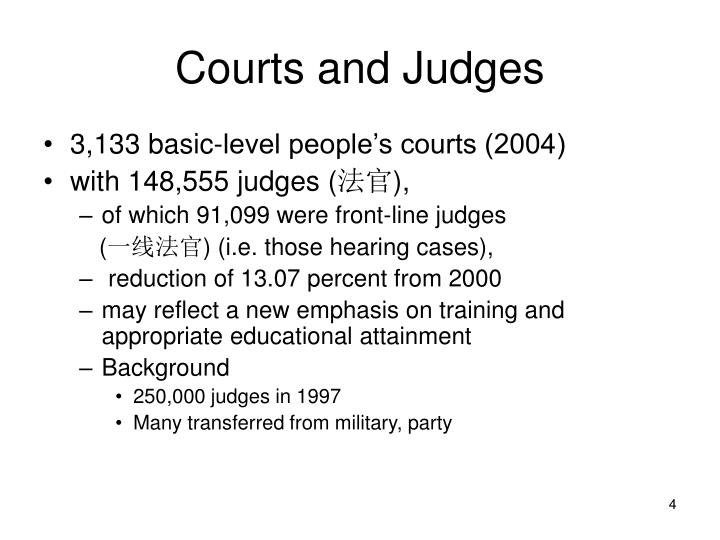 Courts and Judges