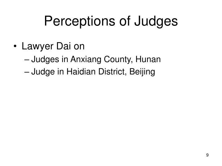 Perceptions of Judges