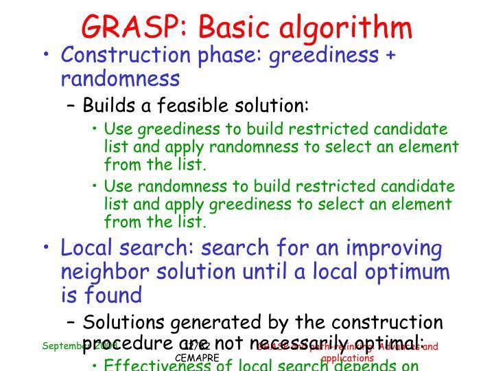 GRASP: Basic algorithm