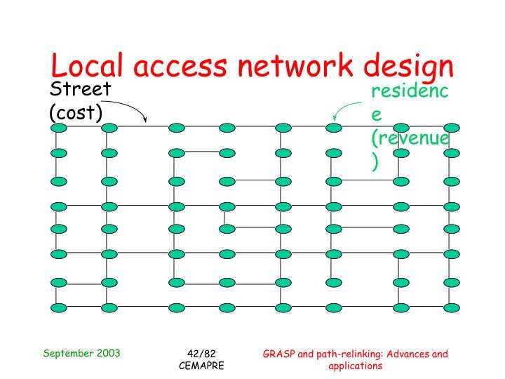 Local access network design
