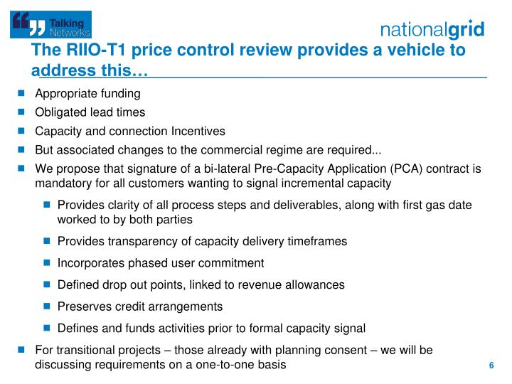 The RIIO-T1 price control review provides a vehicle to address this…