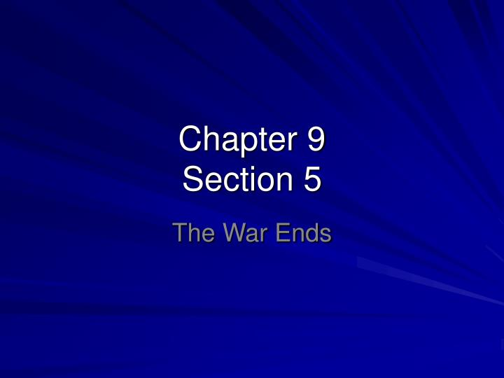 chapter 9 section 5 n.