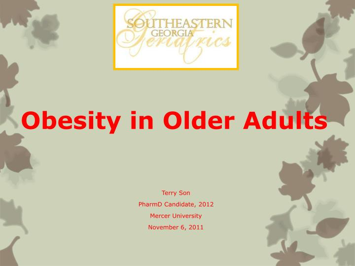 obesity in older adults n.