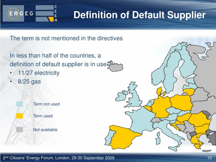 Definition of Default Supplier