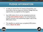pledge affirmation