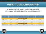 using your scholarship4