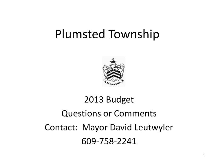 plumsted township n.